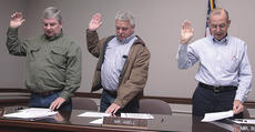 """<div class=""""source"""">Stephen Lega</div><div class=""""image-desc"""">The new Lebanon City Council members took their oaths of office New Year's Day at city hall. The members pictured above are, from left, Kenny Marrett, Jerry Abell and Jim Richardson.</div><div class=""""buy-pic""""><a href=""""http://web2.lcni5.com/cgi-bin/c2newbuyphoto.cgi?pub=015&orig=01-05-11%2Bweb%2Bin%2Bbrief%2Bnew%2Bcouncil%2Bpic%2B2.jpg"""" target=""""_new"""">Buy this photo</a></div>"""