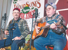 """<div class=""""source"""">Stephen Lega</div><div class=""""image-desc"""">The Moron Brothers brought their comedic-musical act to the Marion County High School stage Saturday night during the Kentucky Bluegrass Music Kickoff.</div><div class=""""buy-pic""""><a href=""""/photo_select/9706"""">Buy this photo</a></div>"""