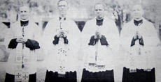 """<div class=""""source"""">Photo submitted</div><div class=""""image-desc"""">Rev. Vincent Smith of Lebanon, far right, was part of the first class to graduate from St. Augustine's seminary in Bay St. Louis, Mo.</div><div class=""""buy-pic""""></div>"""