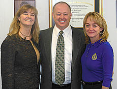 """<div class=""""source"""">Photo submitted</div><div class=""""image-desc"""">Marion County Detention Center recently hosted Kentucky Department of Corrections Commissioner LaDonna Thompson, left, and Deputy Commissioner Paula Holden, right, for a tour of the facility.  Both commended the Marion County Fiscal Court for its support of the detention center in implementing programs intended to improve the lives of inmates upon reentry into society. They are pictured with Marion County Jailer Barry Brady. </div><div class=""""buy-pic""""></div>"""
