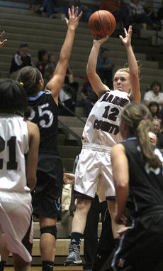 """<div class=""""source"""">Nick Schrager</div><div class=""""image-desc"""">Marion County Lady Knights senior forward Coleen Rakes takes a jump shot against Mercy on Feb. 20. </div><div class=""""buy-pic""""><a href=""""/photo_select/32701"""">Buy this photo</a></div>"""