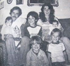 "<div class=""source"">Photo from Enterprise archives</div><div class=""image-desc"">Dennis Rice is pictured surrounded by his family in a photo that appeared in the March 8, 1979, edition of the Lebanon Enterprise. Four of his children and his wife, Mary Ann Rice, died in a house fire March 6, 1979. Todd, then 9 years old and seated between his parents, was the only child who survived.</div><div class=""buy-pic""></div>"
