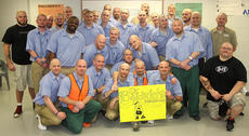 """<div class=""""source"""">Stevie Lowery</div><div class=""""image-desc"""">Pictured are members of the Substance Abuse Program at MCDC who shaved their heads and raised $500 for the St. Baldrick's Foundation. Also pictured are Daniel Bishop and Matthew Rogers of Disco's in Campbellsville. </div><div class=""""buy-pic""""><a href=""""/photo_select/33514"""">Buy this photo</a></div>"""