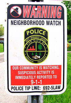 "<div class=""source"">Stephen Lega</div><div class=""image-desc"">Neighborhood watch signs have been placed in a handful of areas in Lebanon, and the Lebanon Police are hoping to expand this program to more areas. </div><div class=""buy-pic""><a href=""/photo_select/27042"">Buy this photo</a></div>"