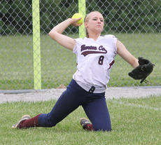 """<div class=""""source"""">Nick Schrager</div><div class=""""image-desc"""">Left fielder Tori Rawlings throws the ball from left field. </div><div class=""""buy-pic""""><a href=""""/photo_select/34437"""">Buy this photo</a></div>"""