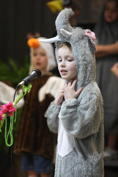 """<div class=""""source"""">Stevie Lowery</div><div class=""""image-desc"""">No one said wearing an elephant costume would be comfortable. By the looks of Joe Buckman, the getup was a bit itchy. </div><div class=""""buy-pic""""><a href=""""/photo_select/27254"""">Buy this photo</a></div>"""