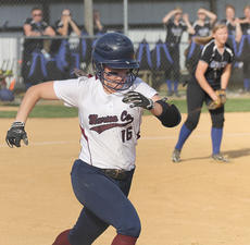 """<div class=""""source"""">Nick Schrager</div><div class=""""image-desc"""">Marion County junior catcher Abby Miles runs to first base against Adair County in the district tournament.</div><div class=""""buy-pic""""><a href=""""/photo_select/34699"""">Buy this photo</a></div>"""