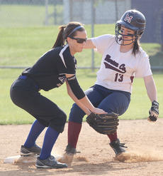 """<div class=""""source"""">Nick Schrager</div><div class=""""image-desc"""">Marion County freshman outfielder Allison Maupin skates into second base in a May 20 game against Adair County. </div><div class=""""buy-pic""""><a href=""""/photo_select/34698"""">Buy this photo</a></div>"""