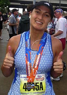 "<div class=""source""></div><div class=""image-desc"">This photo of Sarah was taken after the 2010 Kentucky Derby miniMarathon.</div><div class=""buy-pic""></div>"