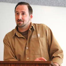 """<div class=""""source"""">Stevie Lowery</div><div class=""""image-desc"""">Steven Wrather speaks about the knowledge he's gained through the R.E.A.C.H. Program at the Marion County Detention Center Friday morning. </div><div class=""""buy-pic""""><a href=""""/photo_select/56473"""">Buy this photo</a></div>"""