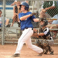 """<div class=""""source"""">Stephen Lega</div><div class=""""image-desc"""">John Austin Hicks of Warren County South watches his home run ball in the sixth inning of the 10-11-year-old Kentucky State Little League semifinals Tuesday at Graham Memorial Park in Lebanon.</div><div class=""""buy-pic""""><a href=""""/photo_select/13528"""">Buy this photo</a></div>"""