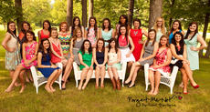 """<div class=""""source"""">Photo by Forget-Me-Not Portrait Boutique</div><div class=""""image-desc"""">Pictured are the participants in the 2014 Marion County Distinguished Young Woman Program. They are, front row, sitting, from left, Olivia Brady, Macy Bradshaw, Macy McFall, Bailey Spalding, Abby Blandford, Kara Barlow, Kaitlyn Mattingly, Alyssa Jones (no longer participating), Brooklyn Russell, Kristina Leake and Madison Essex; second row, standing, Caitlyn Gardner, Anna Browning, Ashley Thomas, Sarah Bradshaw, Audrey May, Nicole Mattingly, Cameron Caldwell, Alexus Calhoun, Sarah Spalding, Caitlyn Hillman, Allison Mudd and Macy Tungate. </div><div class=""""buy-pic""""></div>"""