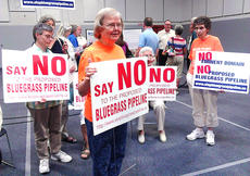 "<div class=""source"">Stephen Lega</div><div class=""image-desc"">Members of the Loretto Community stated their opposition to the Bluegrass Pipeline project during an open house hosted by the Williams and Boardwalk Pipeline Partners on Aug. 8 in Elizabethtown. </div><div class=""buy-pic""><a href=""/photo_select/29183"">Buy this photo</a></div>"