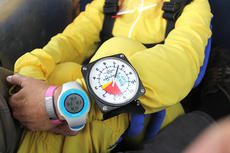 "<div class=""source"">Nicolas Schrager</div><div class=""image-desc"">A quick look at the altimeter strapped to Sam's hand. Currently, they're at around 7,500 feet.  </div><div class=""buy-pic""><a href=""/photo_select/36569"">Buy this photo</a></div>"