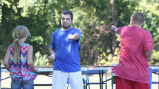 """<div class=""""source"""">Nick Schrager</div><div class=""""image-desc"""">Tony Ballard demonstrates kata moves to Madison and Zachary Wise. </div><div class=""""buy-pic""""><a href=""""/photo_select/29812"""">Buy this photo</a></div>"""
