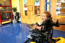 """<div class=""""source"""">Stevie Lowery</div><div class=""""image-desc"""">Eli Bright, 3, shows no fear or first day of school nerves as he drives his special electric chair all on his own into Glasscock Elementary School Monday morning.  </div><div class=""""buy-pic""""><a href=""""/photo_select/57837"""">Buy this photo</a></div>"""