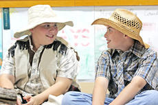 """<div class=""""source"""">Stevie Lowery</div><div class=""""image-desc"""">Jonathan Thompson, left, and Travis Wiser recite their lines with smiles on their faces.</div><div class=""""buy-pic""""><a href=""""http://web2.lcni5.com/cgi-bin/c2newbuyphoto.cgi?pub=015&orig=10-05-11%2BCES%2Bplay%2B5.jpg"""" target=""""_new"""">Buy this photo</a></div>"""