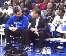 """<div class=""""source""""></div><div class=""""image-desc"""">John Calipari enjoyed having Drake at Big Blue Madness. The coach said shooting will not be this team's forte – but also said that usually is the case with his teams. (Jeff Houchin photo) </div><div class=""""buy-pic""""></div>"""