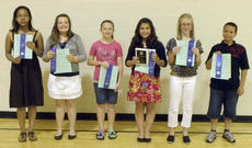"""<div class=""""source""""></div><div class=""""image-desc"""">Eleven-year-old winners are, from left, Leah Hazelwood, Alexis Raikes, Hannah Mattingly, Santana Alvarez (Eleven Year Old County Champion), Alice Farmer, and Sam Hayden.</div><div class=""""buy-pic""""></div>"""