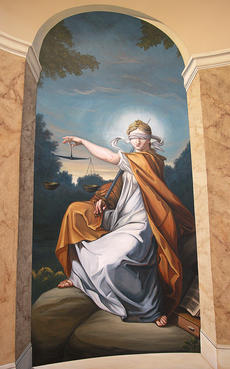 "<div class=""source"">Stephen Lega</div><div class=""image-desc"">Vance Murray's ""Lady Justice"" was custom painted to fill the wall on the staircase leading to the top floor of the Marion County Judicial Center.</div><div class=""buy-pic""><a href=""http://web2.lcni5.com/cgi-bin/c2newbuyphoto.cgi?pub=015&orig=11-07-12%2Bart%2Breception-pic%2B3.jpg"" target=""_new"">Buy this photo</a></div>"