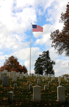 """<div class=""""source"""">Stevie Lowery</div><div class=""""image-desc"""">Autumn leaves, sunny skies and a fall breeze made the Lebanon National Cemetery even more beautiful during the Veterans Day ceremony Sunday afternoon. The Lebanon National Cemetery was established as a National Cemetery 150 years ago in 1867. Today, there are more than 5,700 internments at the cemetery. </div><div class=""""buy-pic""""><a href=""""/photo_select/58725"""">Buy this photo</a></div>"""