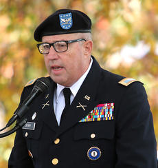 """<div class=""""source"""">Stevie Lowery</div><div class=""""image-desc"""">Colonel Allan Denny was the featured speaker. A second-generation Kentucky Guardsman, Colonel Denny has been a member of the Kentucky National Guard for more than 37 years. </div><div class=""""buy-pic""""><a href=""""/photo_select/58726"""">Buy this photo</a></div>"""