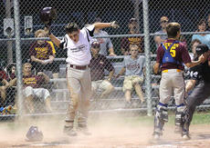 "<div class=""source"">George Spragens</div><div class=""image-desc"">Travis Wiser celebrates after scoring the winning run to end the game.</div><div class=""buy-pic""></div>"