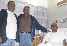 "<div class=""source"">Stephen Lega</div><div class=""image-desc"">Kenneth, left, and Otis Taylor visited Paul Simpson Friday afternoon at Spring View Hospital, where Simpson was recovering from a Nov. 13 house fire.</div><div class=""buy-pic""><a href=""/photo_select/24029"">Buy this photo</a></div>"