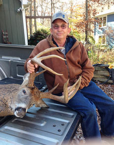 """<div class=""""source"""">Photo submitted</div><div class=""""image-desc"""">James W. Reynolds killed this 13-point buck on opening day of deer season in Marion County. </div><div class=""""buy-pic""""></div>"""