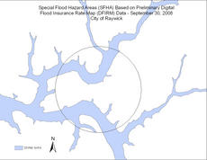 """<div class=""""source""""></div><div class=""""image-desc"""">Shown is the preliminary floodplain map for Raywick.</div><div class=""""buy-pic""""><a href=""""/photo_select/3499"""">Buy this photo</a></div>"""
