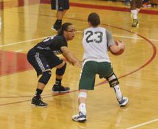 "<div class=""source"">Jessica Veatch</div><div class=""image-desc"">Preseason Miss Basketball candidates, Marion County's Makayla Epps and Owensboro Catholic's Rebecca Greenwell, square off when the two teams met up in the Rick Bolus Shootout recently at Bullitt East High School.  Epps finished the scrimmage with 27 points while Greenwell poured in 40 points in the Lady Knights 95-68 win.</div><div class=""buy-pic""></div>"