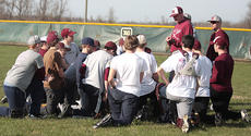 """<div class=""""source"""">Jessica Veatch</div><div class=""""image-desc"""">Head Coach Chad Spalding gives instructions to his baseball team at a recent practice. Spalding is entering his 15th season as the leader of the baseball Knights.</div><div class=""""buy-pic""""><a href=""""/photo_select/10805"""">Buy this photo</a></div>"""