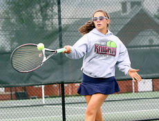 "<div class=""source"">Jessica Veatch</div><div class=""image-desc"">Junior Madison Cassidy looks to return the ball to an opponent during a conference tournament match. Cassidy and doubles partner Elyssa Holt won the conference tournament championship match.</div><div class=""buy-pic""><a href=""/photo_select/19559"">Buy this photo</a></div>"