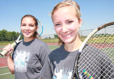 """<div class=""""source"""">Stephen Lega</div><div class=""""image-desc"""">Lady Knights Madison Cassidy and Elyssa Holt returned to the state tournament again this year.</div><div class=""""buy-pic""""><a href=""""/photo_select/27377"""">Buy this photo</a></div>"""