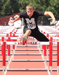 """<div class=""""source"""">Jessica Veatch</div><div class=""""image-desc"""">Junior Brooks Divine competes in the 110-meter hurdles at the state track meet held Friday. Divine finished the event in 8th place.</div><div class=""""buy-pic""""><a href=""""/photo_select/20064"""">Buy this photo</a></div>"""