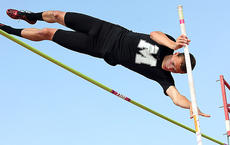 """<div class=""""source"""">Jessica Veatch</div><div class=""""image-desc"""">Junior Brooks Divine clears the pole during the pole vault event during the state track meet. Divine cleared 13'6"""" to win the event, becoming the 2012 2A Pole Vault champion.</div><div class=""""buy-pic""""><a href=""""/photo_select/20063"""">Buy this photo</a></div>"""