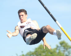"""<div class=""""source"""">Nick Schrager</div><div class=""""image-desc"""">Freshman Dylan Bradshaw falls downward after making a successful vault during Friday's state track meet. Bradshaw finished fifth in Class AA.</div><div class=""""buy-pic""""><a href=""""/photo_select/34688"""">Buy this photo</a></div>"""