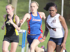 """<div class=""""source"""">Nick Schrager</div><div class=""""image-desc"""">Shy Camp (right) blasts out of the starting line in the 100 meters at the Danville All-Comers Meet.</div><div class=""""buy-pic""""><a href=""""/photo_select/34243"""">Buy this photo</a></div>"""