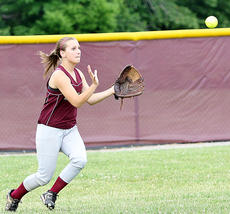 """<div class=""""source"""">Jessica Veatch</div><div class=""""image-desc"""">Junior Lexi Maupin prepares to field the ball in the outfield in the game Thursday night against Washington County.</div><div class=""""buy-pic""""><a href=""""/photo_select/19751"""">Buy this photo</a></div>"""