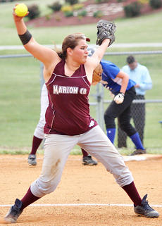 """<div class=""""source"""">Jessica Veatch</div><div class=""""image-desc"""">Sophomore Ashley Walls prepares to pitch to a Washington County batter in the Lady Knights' win Thursday night.</div><div class=""""buy-pic""""><a href=""""/photo_select/19755"""">Buy this photo</a></div>"""
