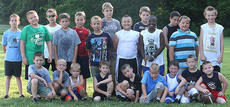 "<div class=""source"">Photo by Jessica Veatch</div><div class=""image-desc"">Pictured are the participants in the Youth Football Camp held July 11-13 at Marion County High School.</div><div class=""buy-pic""><a href=""/photo_select/13559"">Buy this photo</a></div>"