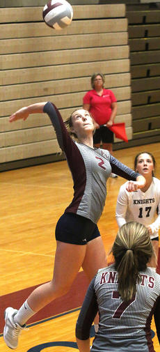 """<div class=""""source"""">Gerard Flanagan</div><div class=""""image-desc"""">Senior Mary Ann May spikes the ball during Marion County's scrimmage on Aug. 10 against Bardstown at the Roby Dome. </div><div class=""""buy-pic""""><a href=""""/photo_select/57304"""">Buy this photo</a></div>"""