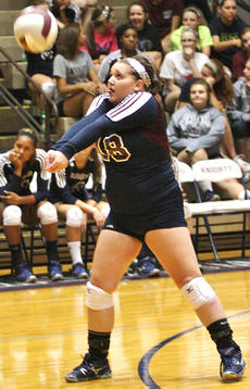 """<div class=""""source"""">Jessica Veatch</div><div class=""""image-desc"""">Senior Heather Roberts passes the volleyball during the match against Campbellsville. </div><div class=""""buy-pic""""><a href=""""/photo_select/22082"""">Buy this photo</a></div>"""
