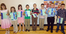 """<div class=""""source"""">Photos submitted</div><div class=""""image-desc"""">Nine-year-old winners are, from left, Sarah Followell, Grace Farmer, Shelby Stout, Zachary Brady (Nine Year Old County Champion), Zachary Mullins, Tanner Roeder, Tyler Abell, and Andrew Newton.</div><div class=""""buy-pic""""></div>"""