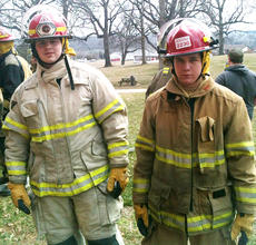 "<div class=""source"">Photo submitted</div><div class=""image-desc"">Donovan Kirkland, left, and Jordan Garrett attended Dixie Fire School in Elizabethtown on March 9-10. They are members of Bradfordsville Fire Department's Explorers Program. </div><div class=""buy-pic""></div>"