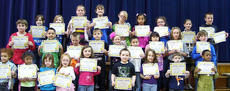 "<div class=""source"">Photo submitted</div><div class=""image-desc"">The following were Students of the Month for March at Glasscock Elementary School. Front row, from left, Dezire Maddox, Deshonea Flores, Skylar Harvey, Madison Rhea Mitchell, Ava Akers, George Martin, Skyler Redfern, Eli Murphy- Orberson, and Detorrian Bell; middle row, Ryan Shuck, Alexandre Huerta, Luke Sullivan, Clayton Coulter, Gracie Bradshaw, Brayen Flores Valencia, Olivia Ibarra, Alyssa Jones, Gabe Nelson; and back row, Abby Powell, Karis Smith, Stephanie Graham, Sarah Followell, Megan Boblitt, Brenda Santos, Heather Ransdell, Alexandria Jeffries, and Isaiah Mattingly. Not pictured is Daniel Moran. Volunteers of the month were Bill Gordon and Beverly Smalley. Staff members of the month were Jeri Adams and Angie Akers. </div><div class=""buy-pic""></div>"
