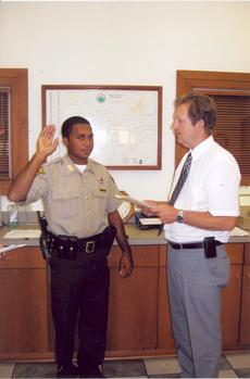 """<div class=""""source"""">Photo submitted</div><div class=""""image-desc"""">Tristan D. Hayden was sworn in as deputy sheriff by Marion County Judge John Mattingly Aug. 16, 2011.</div><div class=""""buy-pic""""></div>"""