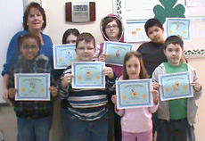 """<div class=""""source"""">Photo submitted</div><div class=""""image-desc"""">The Lebanon Housing Authority ROSS """"Today"""" After School Homework Assistance Program acknowledges children for outstanding grades in the second nine weeks of school.  Each child was presented with a certificate for their accomplishments. Pictured, front row from left, are Ebony Dotson, Bryan Coyle, Cheyenne Brady, and Tyler Hines; back row from left, are Ms. Tamie, youth coordinator, Nicole Hines, Erica Hardin, and LaBryant Churchill.</div><div class=""""buy-pic""""></div>"""