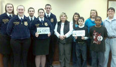 """<div class=""""source"""">Photo submitted</div><div class=""""image-desc"""">Feb. 16, 2012 Commissioner of Agriculture James R. Comer announced that all voluntary donations through the farm license plate will be split evenly between 4-H, FFA, and Kentucky Proud. This is a great opportunity to support three outstanding organizations when making the donation when you renew your farm license plates. </div><div class=""""buy-pic""""></div>"""
