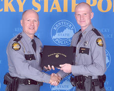 "<div class=""source"">Photo submitted</div><div class=""image-desc"">Marion County native Billy Begley, right, recently graduated from the Kentucky State Police Academy. He is pictured with Capt. Phil Crumpton, the commander of the academy.</div><div class=""buy-pic""></div>"